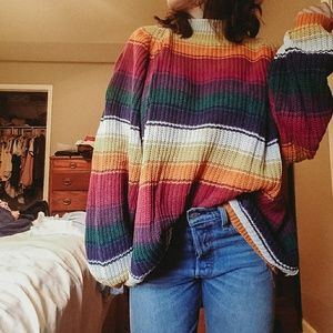 | Vintage | oversized rainbow sweater